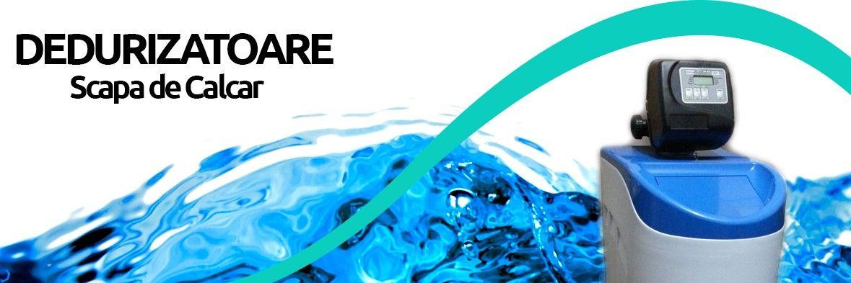 dedurizator intr-o apa clara albastra