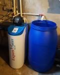 Dedurizare cu sistem de basa pentru evacarea apei din subsol