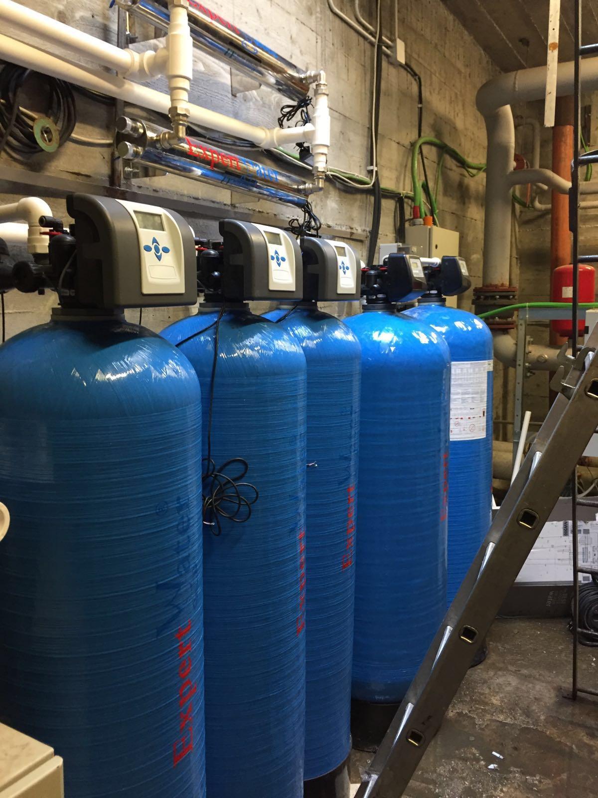 Filtrare Automata  2 x 200 litrii  + Dedurizare - Deferizare Triplex 300 + Sterilizare  UV 2 X 110  Expert Water